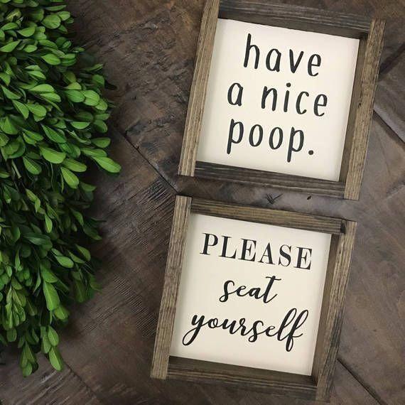 have a nice poop sign bathroom wall decor farmhouse rh pinterest com