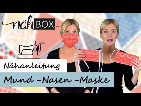 Mund-Nasen-Maske in nur 10 min nähen Gummi- oder Schrägband & mit Nasenbügel | für Nähanfänger