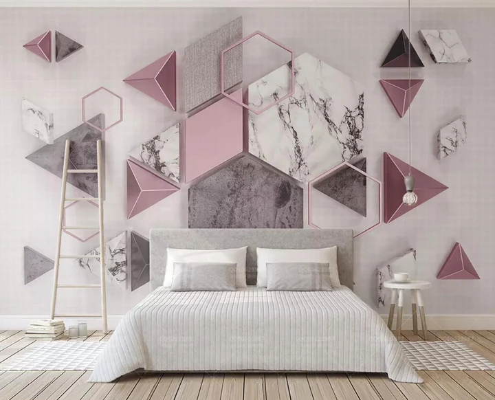 Best 3D Color Geometric Marble Decoration Wall Mural Wallpaper 240 In 2020 Wallpaper Living Room 640 x 480