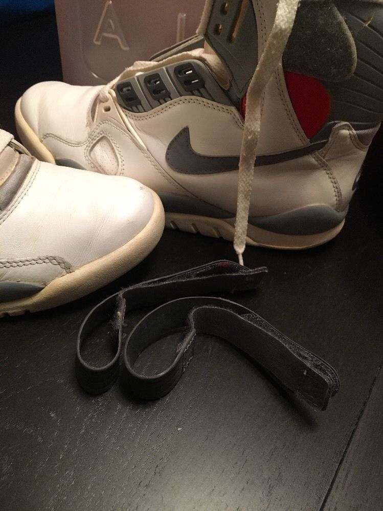 db90cbe4362 These were the very 1st Nike pump shoes. Colorway - White  cement grey.