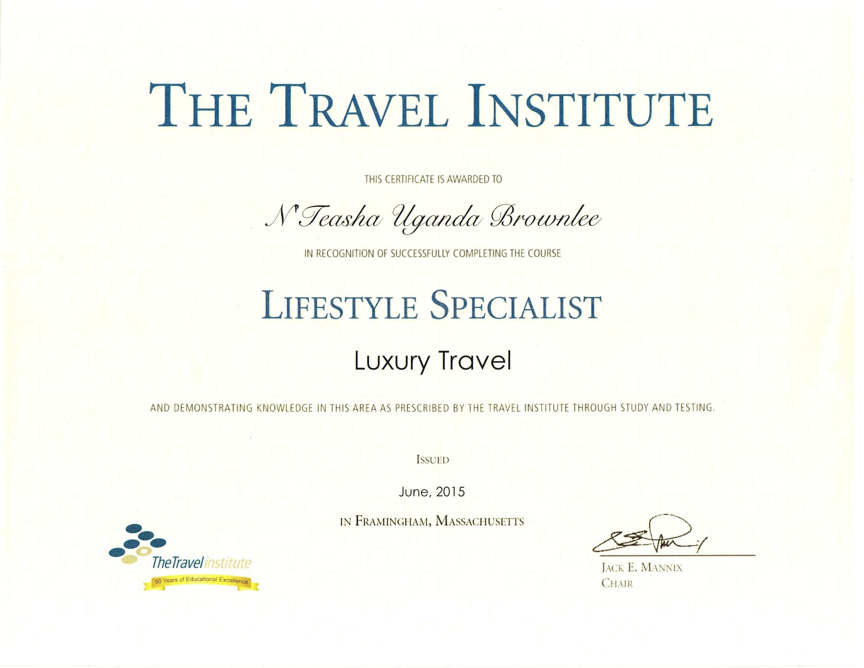 Very Prove To Have Earned My Lifestyle Specialist Luxury Travel
