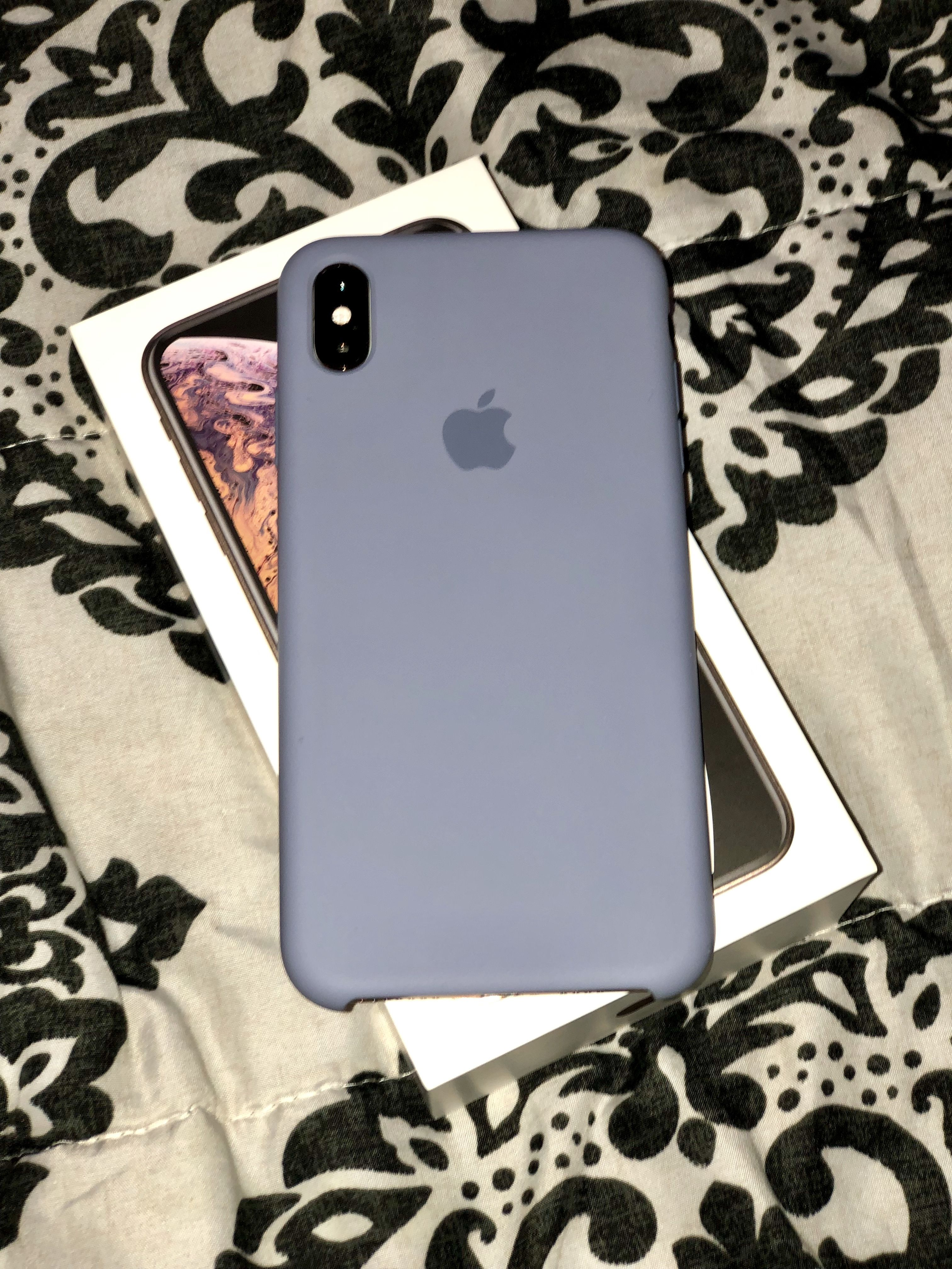 the latest 6cfec ef332 Apple Silicone Case Lavender Gray for iPhone XS Max | Apple Products ...