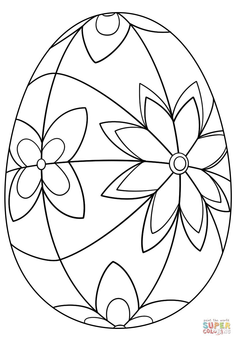 Easter Egg Coloring Page Detailed Easter Egg Coloring Page Free