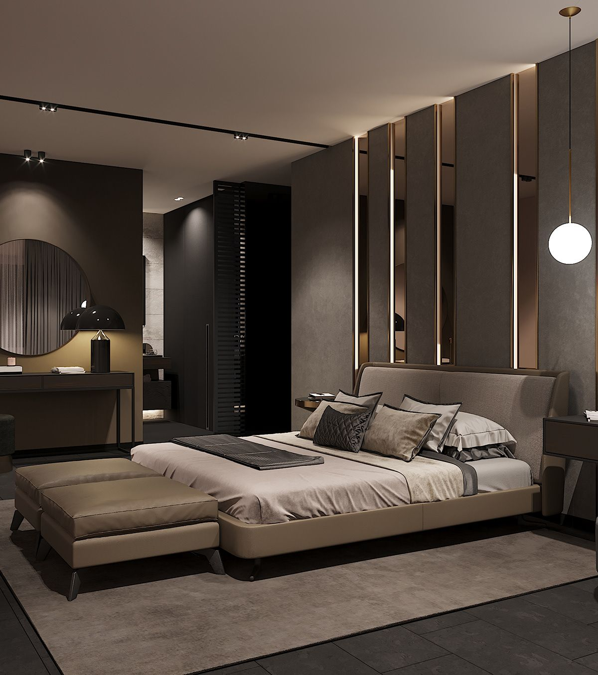 21 Master Bedroom Interior Designs Decorating Ideas: Https://www.behance.net/gallery/72805713/Bedroom-in