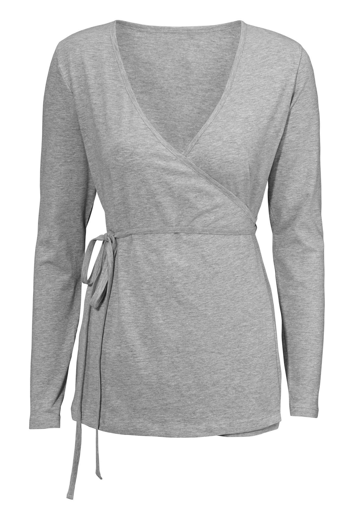 ae93b6154b6d Knit wrap sleep cardigan has long sleeves and an A-line silhouette. V-neck  wrap with self tie belt. Straight bottom hem.Fabric  nbsp 85% cotton