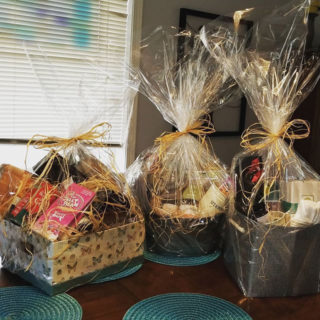 3 more gift baskets heading out the door to happy new home owners filled with Kranks jelly and lots of other goodies. #gift #giftbaskets #giftideas #realtor ...