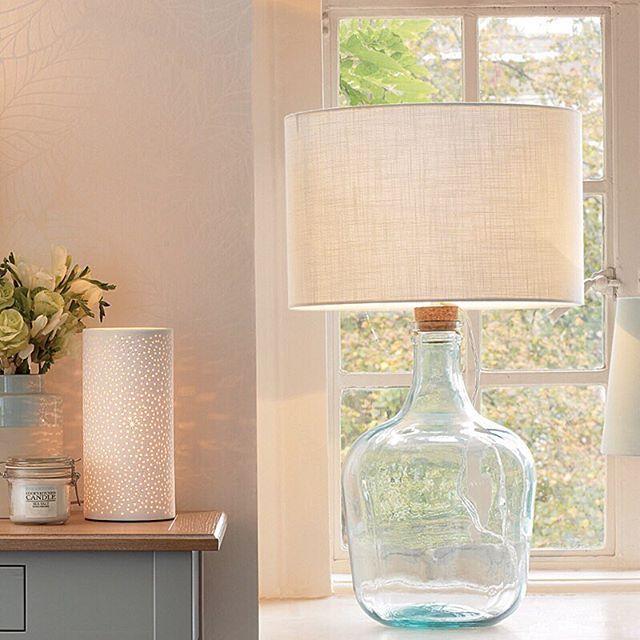 recycled glass lighting. Crafted From A Recycled Glass Bottle With Cork Stopper, Our Chiddingfold Lamp Base Lighting