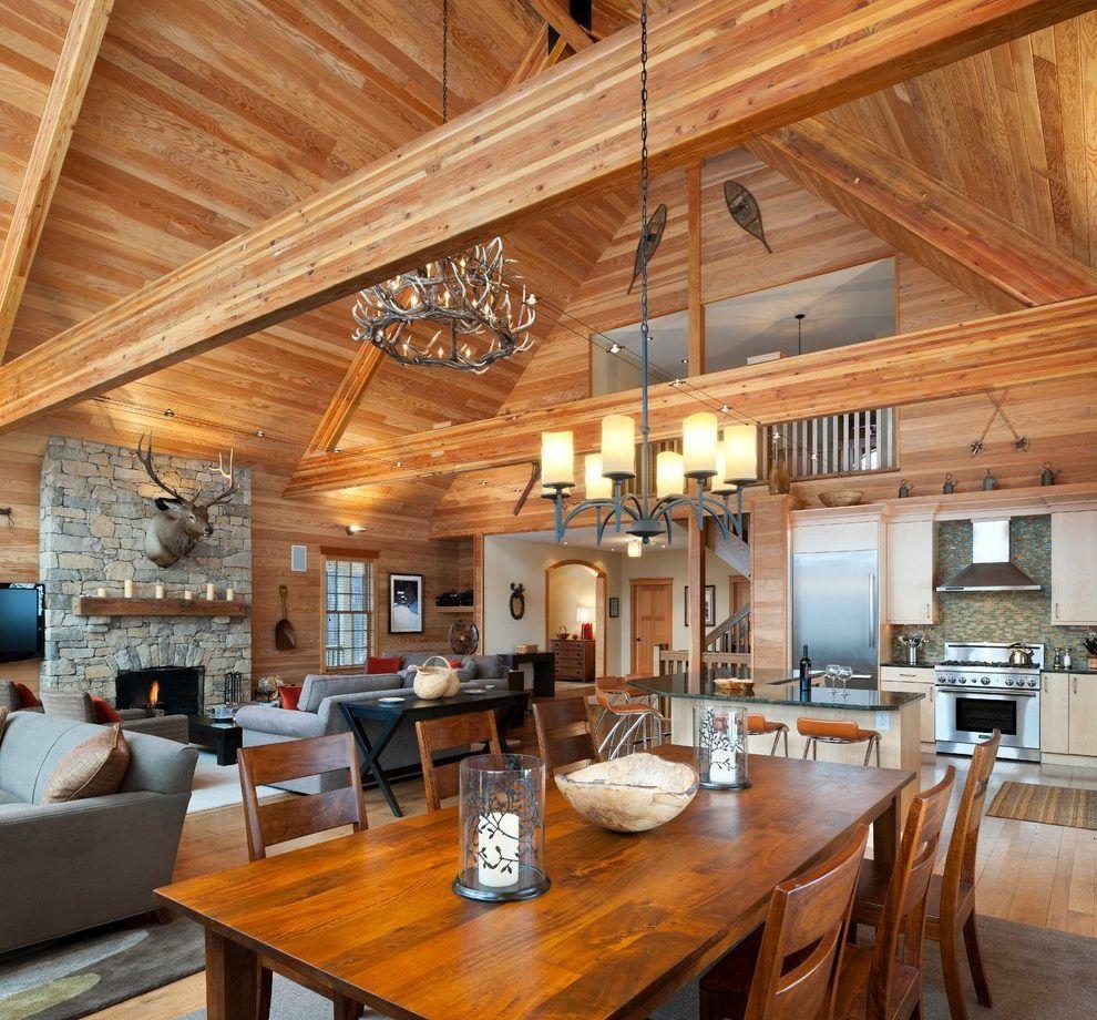 rustic vaulted ceiling living room ceilingideas