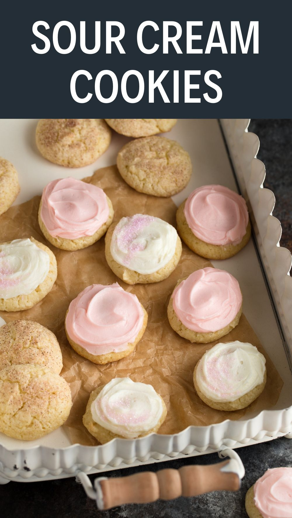 Old Fashioned Sour Cream Cookies Recipe Sour Cream Cookies Ginger Cookies Cookie Recipes Homemade