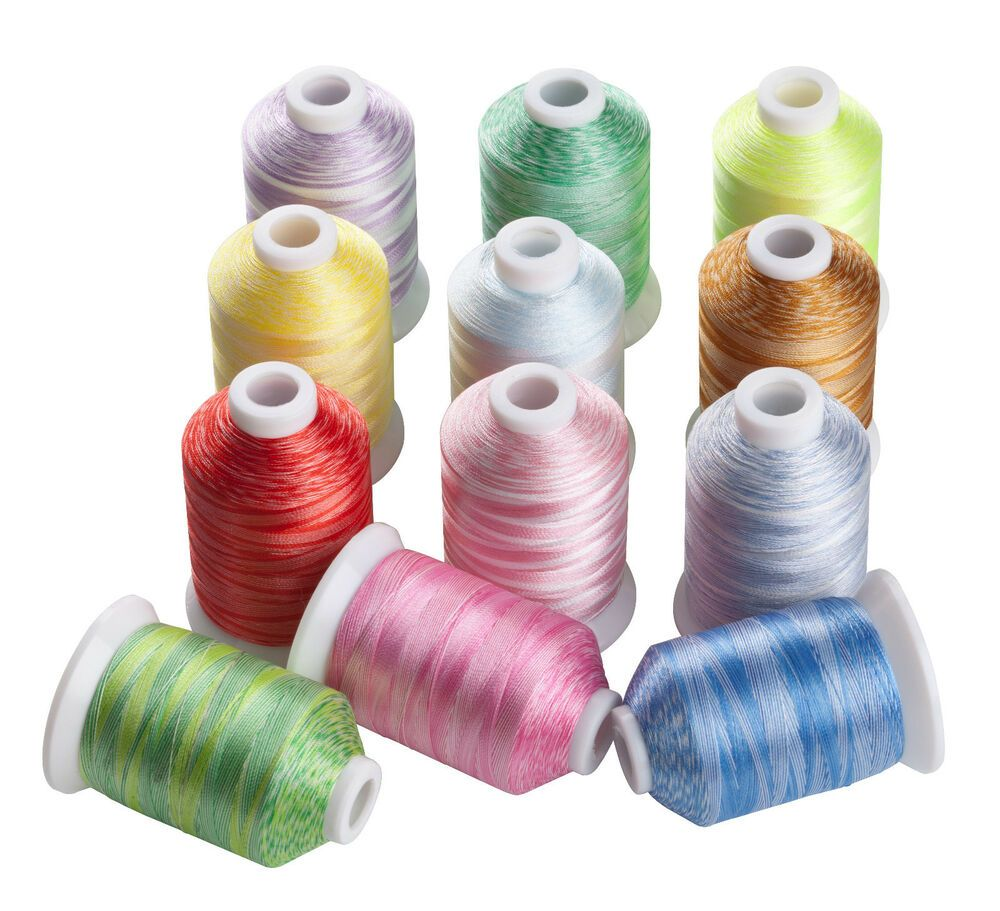 Simthread 63 Brother Colors 500M//spool 120D//2 Polyster Embroidery Machine Thread