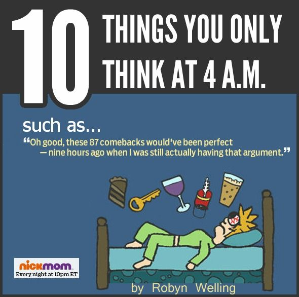 Things You Only Think At  Am Sleep Insomnia Humor