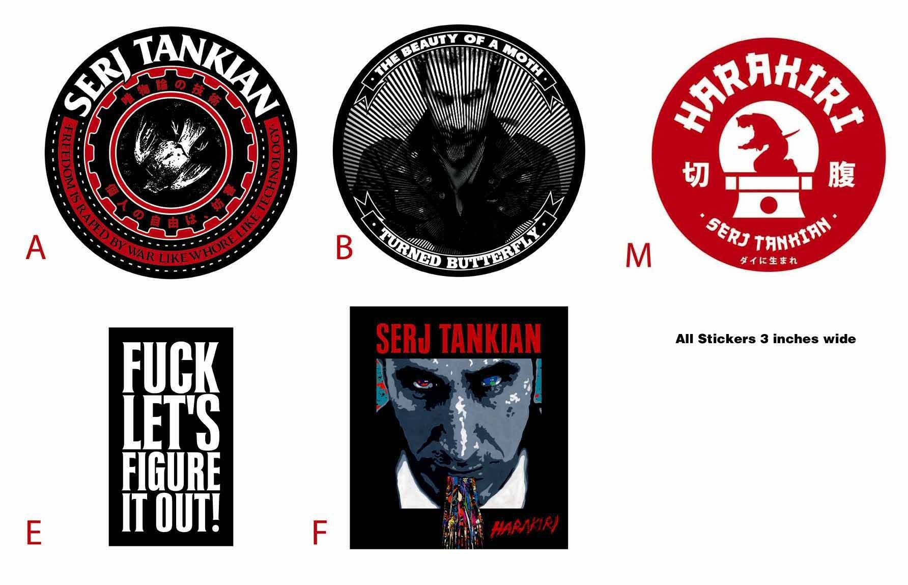 Serj Stickers Stickers Figure It Out System Of A Down