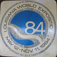 "The 1984 Louisiana World Exposition was a World's Fair held in New Orleans, United States. It was held 100 years after the city's earlier World's Fair, the World Cotton Centennial in 1884. It opened on Saturday, May 12, 1984 and ended on Sunday, November 11, 1984.[1] Its theme was ""The World of Rivers—Fresh Waters as a Source of Life."""