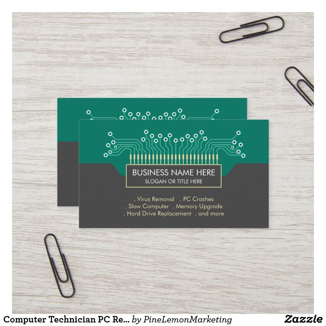 Computer Technician Pc Repair Business Card Zazzle Com Pc Repair Technician Memory Upgrade