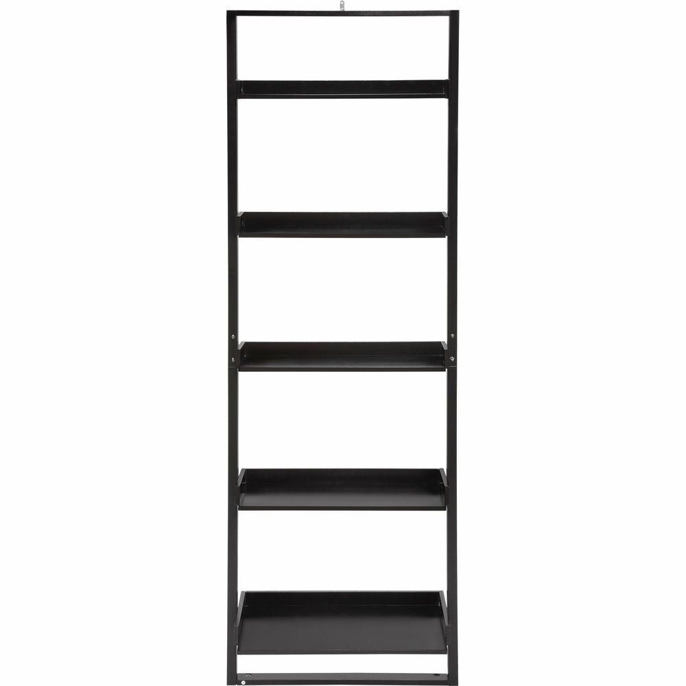 Details About Mainstays 5 Shelf Leaning Ladder Bookcase Espresso Bookcase Leaning Ladder