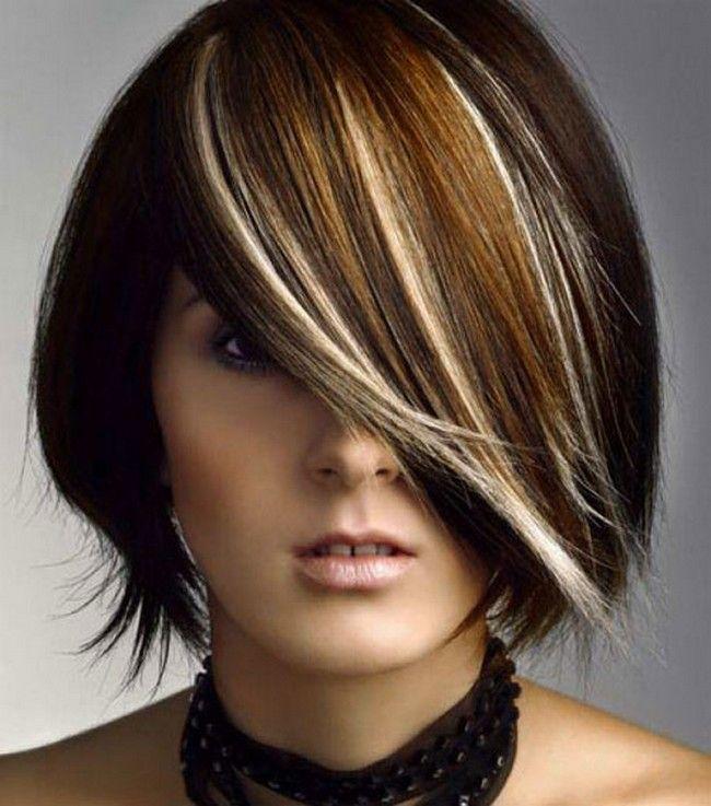 Two Tone Hair Color Ideas For Brown Hair 6 Girls Beauty Look Creative Hair Color Short Hair Color Medium Hair Highlights