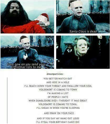 Voldemort Santa Claus Is Coming To Town Parody Harry Potter Memes Harry Potter Song Harry Potter Funny
