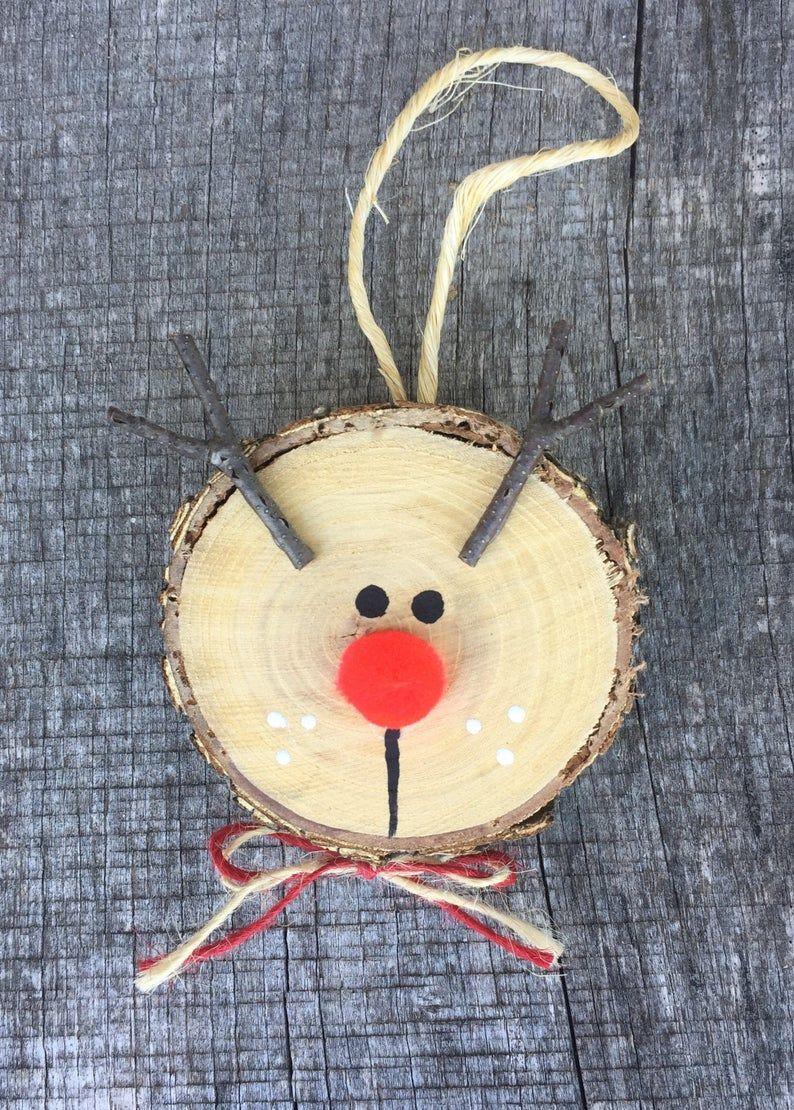 3 Rustic Wooden Reindeer Ornaments Wooden Christmas Tree Etsy In 2021 Christmas Crafts Diy Christmas Decorations Easy Wooden Reindeer
