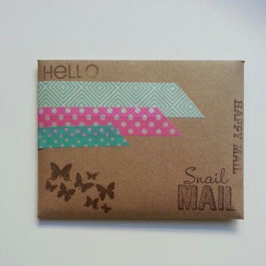 Mail. Snailmail. Happy mail. #snailmail #handmade #mailart #washitape
