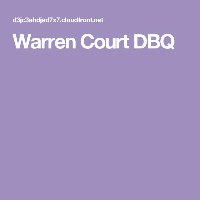 Warren Court DBQ