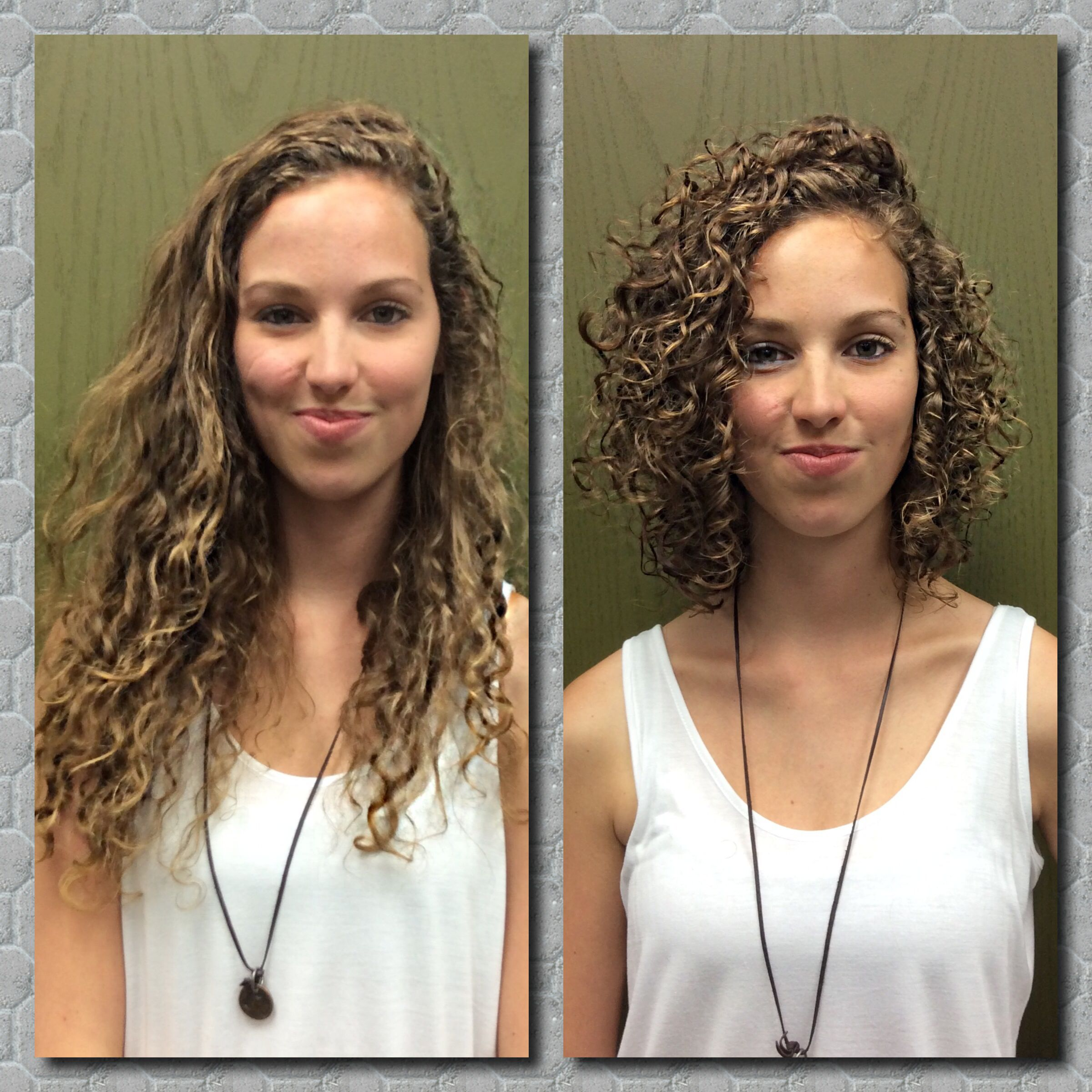 Curly Hair Before And After Hair Layered Curly Hair Curly Hair Styles Wavy Hair