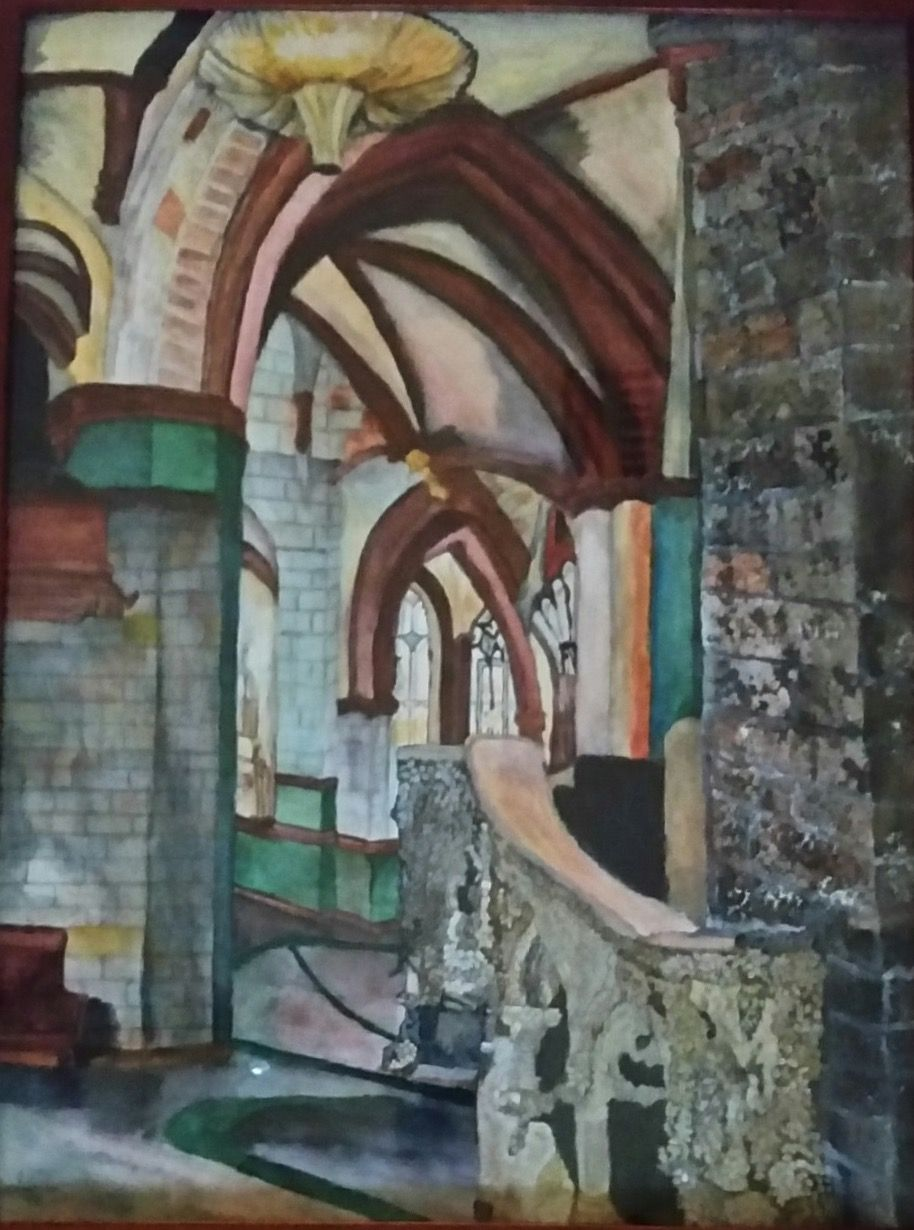 St Giles Scotland By Laneigha Watercolor