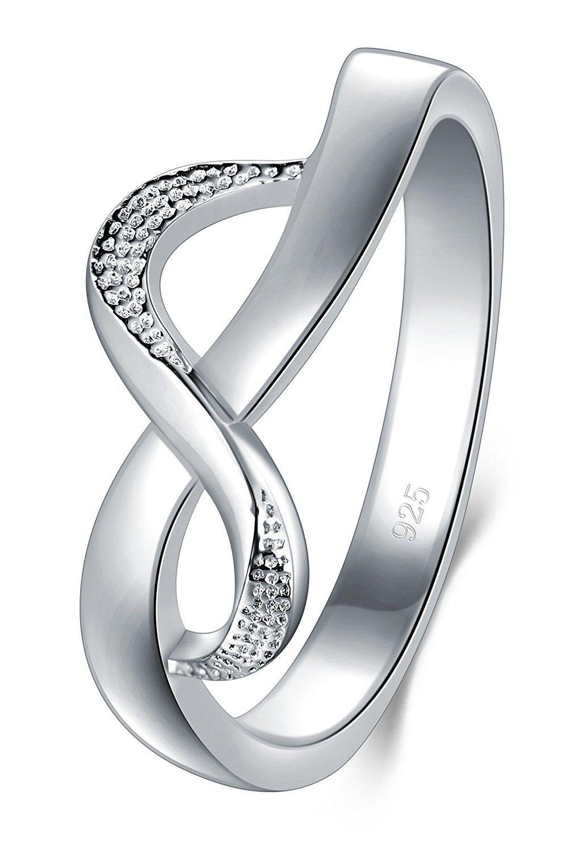 925 Sterling Silver Ring High Polish Infinity Symbol