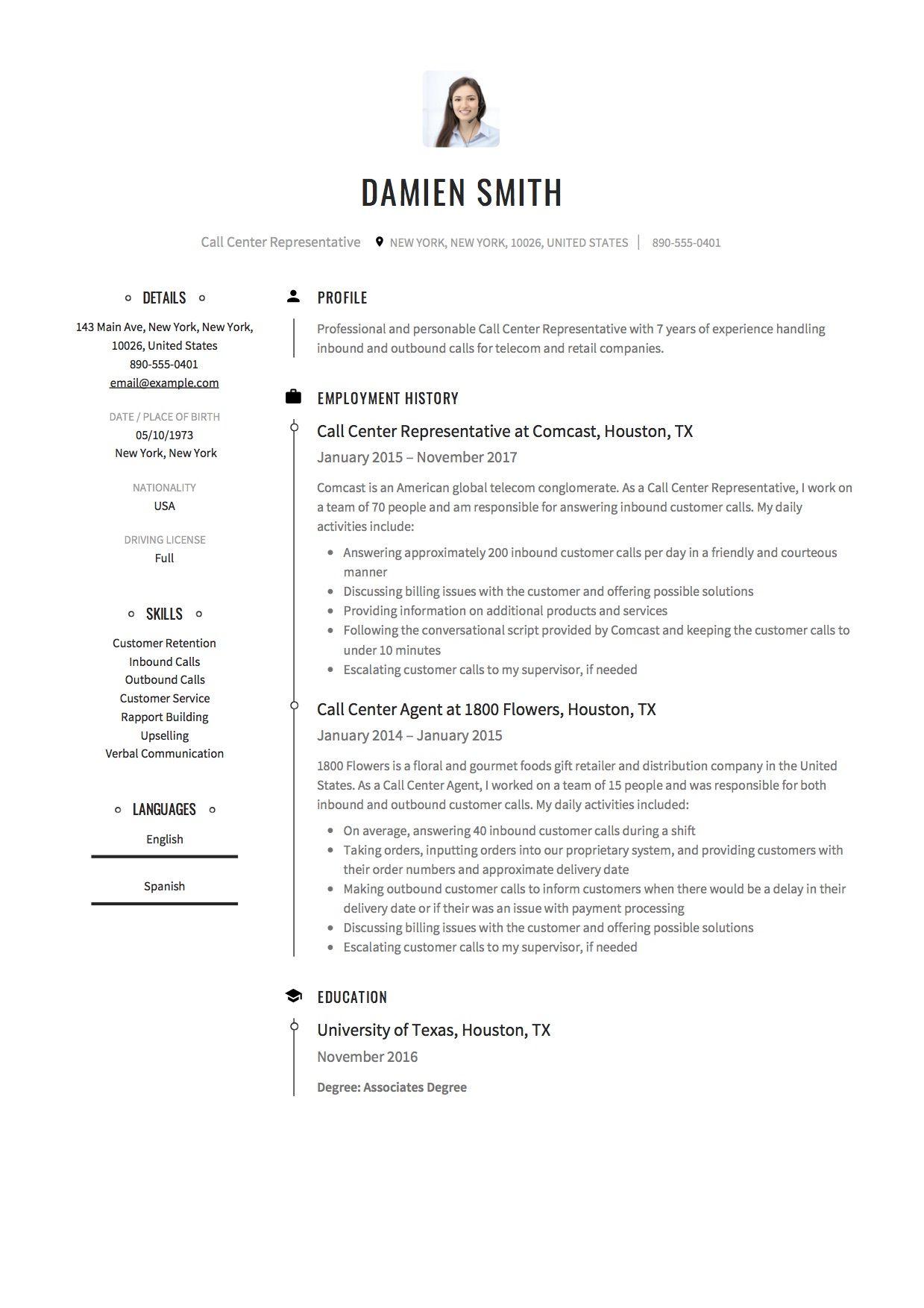 Call Center Resume & Guide Resume guide, Resume