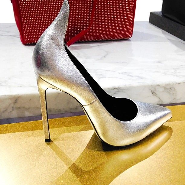 Put the pedal to the metal. @officiellesaintlaurent #perfectpairs #insidebny