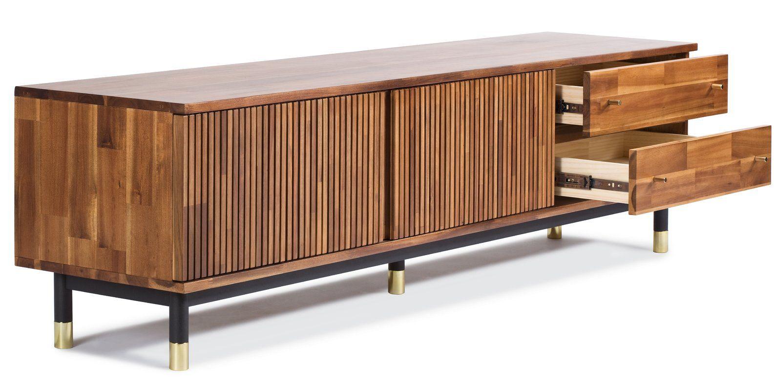 Manolla Tv Stand Allmodern Modern Furniture Living Room Furniture Tv Stand Wood Tv stand solid wood