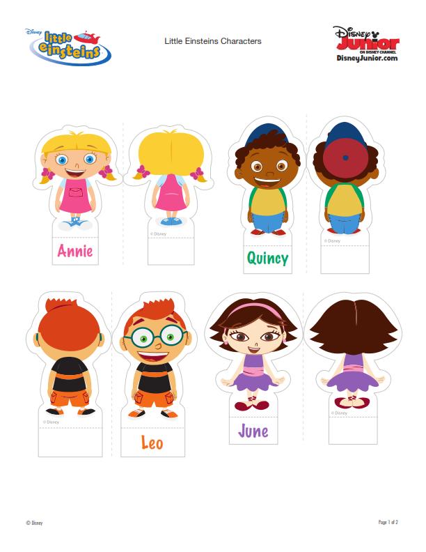 Manualidades infantiles. Nave y personajes de Little Einsteins | Art ...