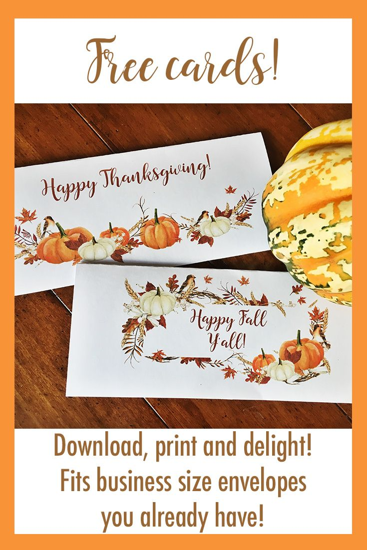 picture about Free Printable Thanksgiving Cards named Printable Thanksgiving playing cards - suit inside business office envelopes