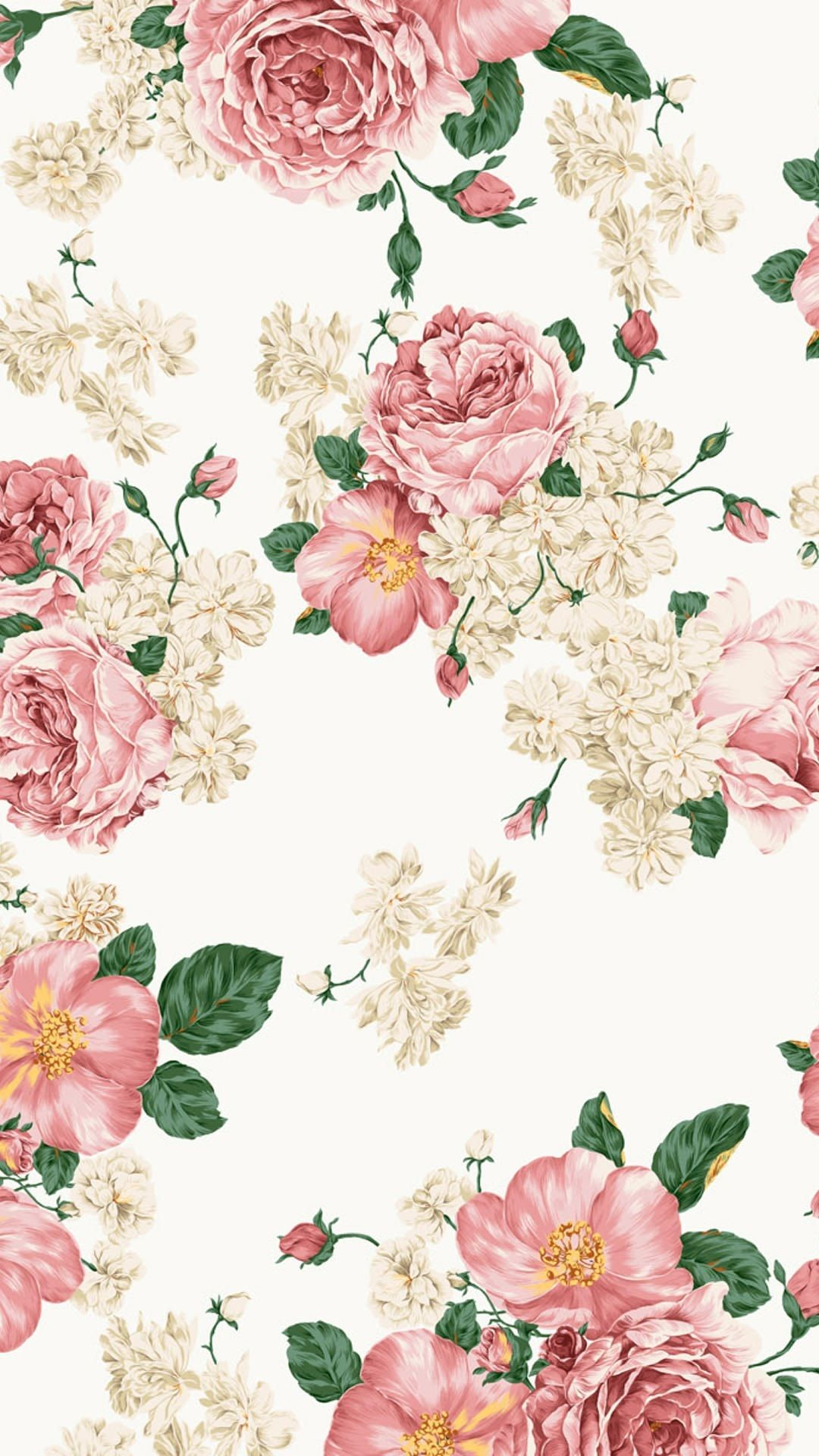 Painting of roses wallpaper Floral wallpaper iphone