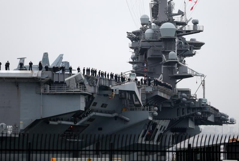 #world #news  U.S. carrier group patrols in South China Sea: U.S. navy