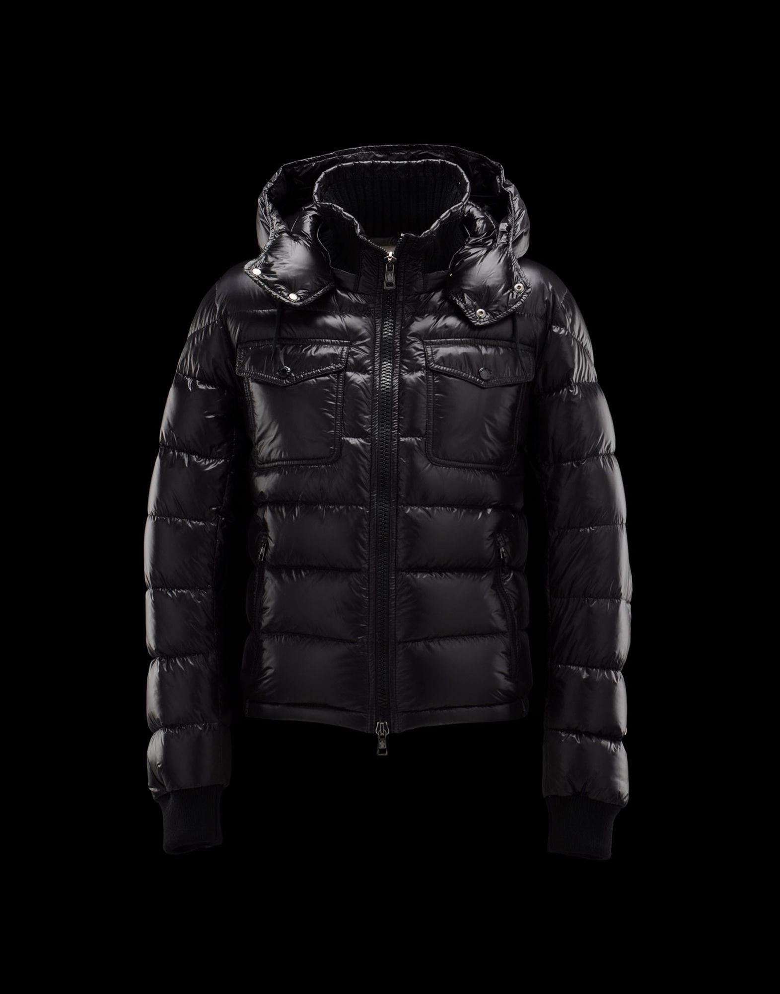 moncler mens coat black