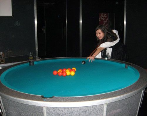 Round Pool Table What Ever Pinterest Pool Table - Circular pool table