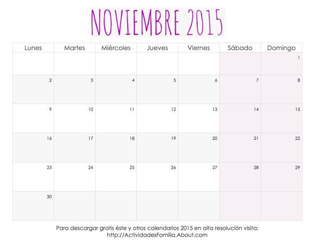 Me encantaron estos calendarios 2015 para imprimir, tienen un ...