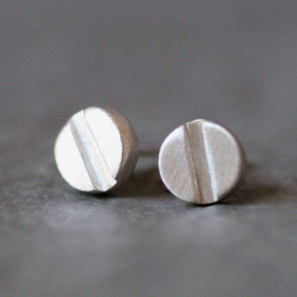 Fab.com | Screw Head Earrings