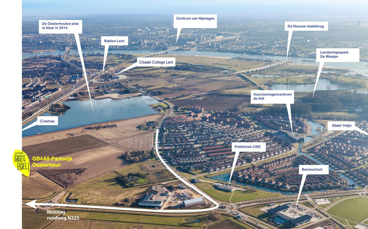 locatie van de 1e GB4All-Parkwijk te Nijmegen-Oosterhout
