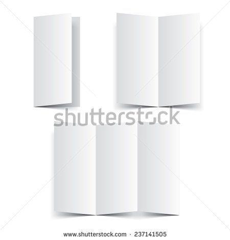 Blank paper template booklet, brochure or leaflet vector Fold - blank brochure template