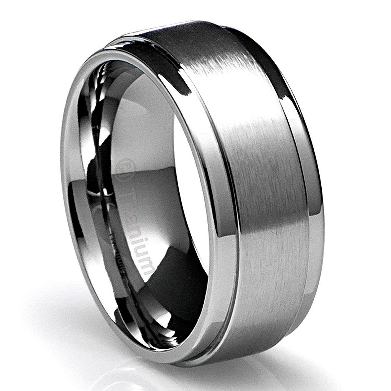 Cavalier Jewelers 10MM Men's Titanium Ring Wedding Band