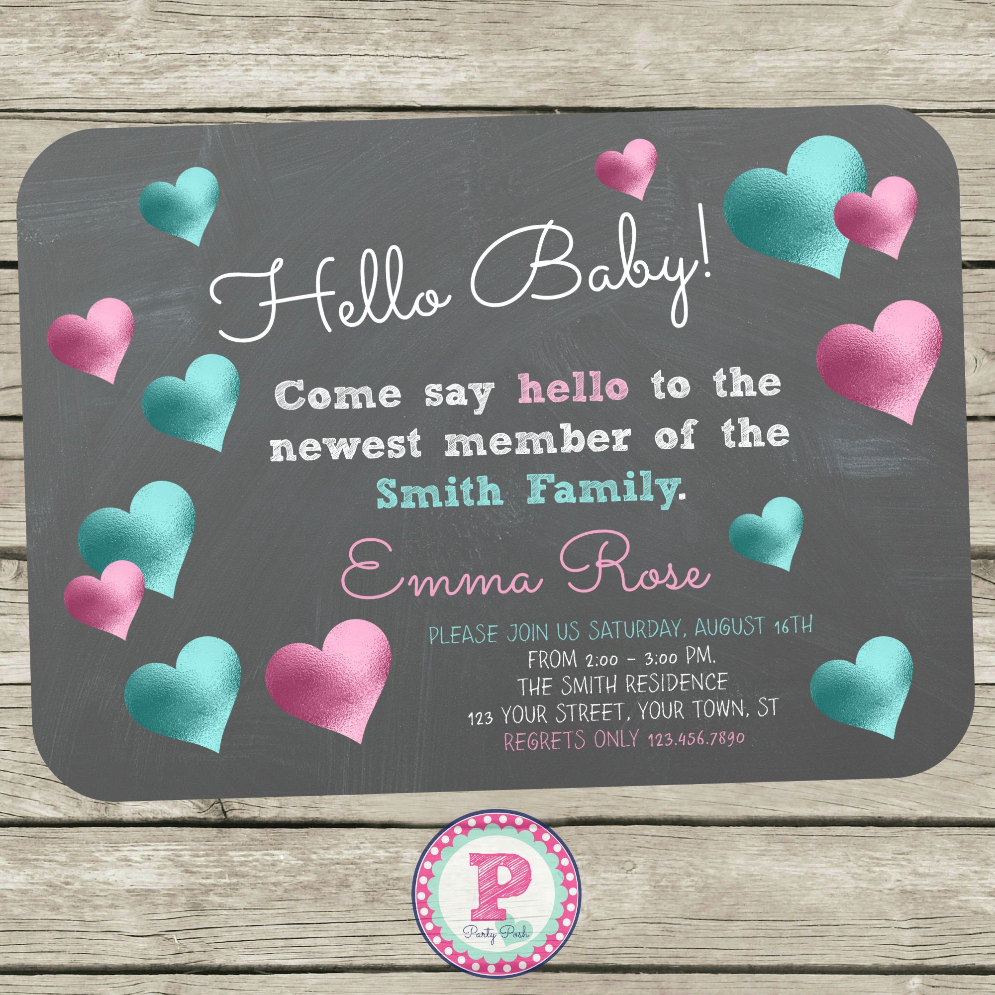 Hello Baby Invitations For A Meet The Baby Party