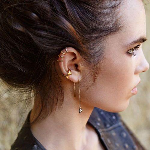 TRENDY Femmes Boucle D/'oreille Argent Or Cercle Statement Ear Pendants d/'oreilles Bijoux Cadeau
