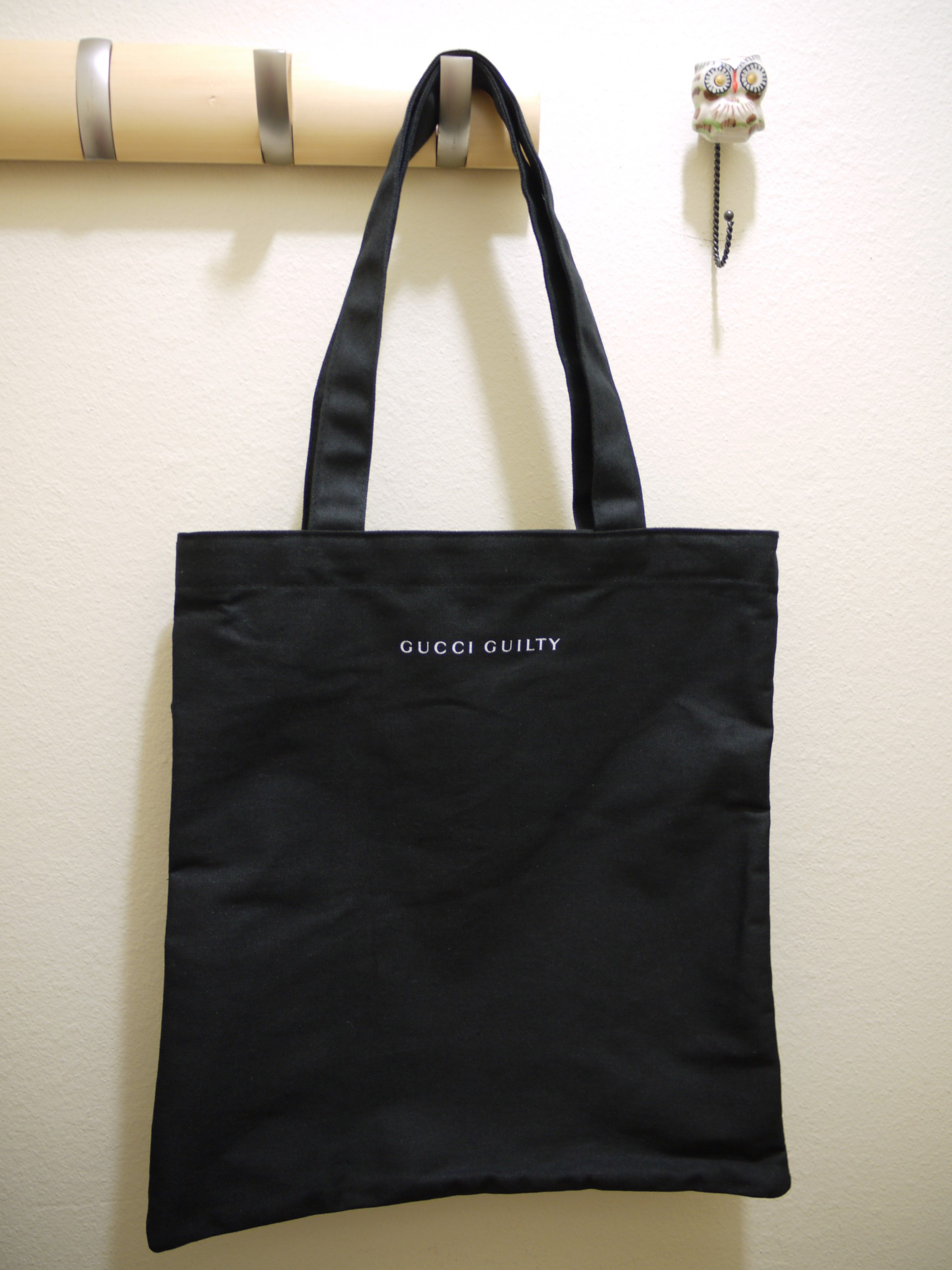 9a1be57c295 Gucci Guilty Fabric Tote Shopping Bag - Black