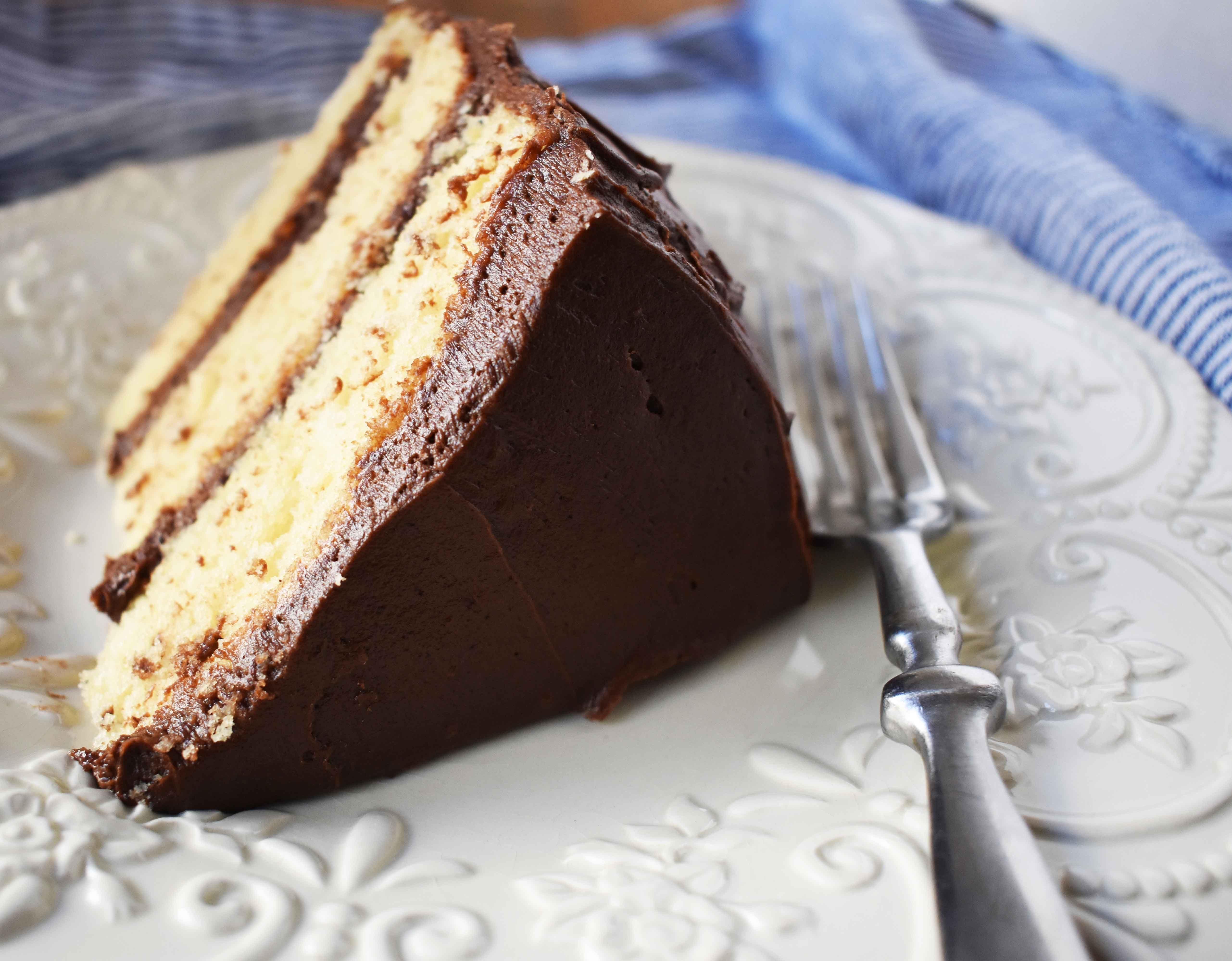 Yellow Birthday Cake with Milk Chocolate Frosting by Modern Honey