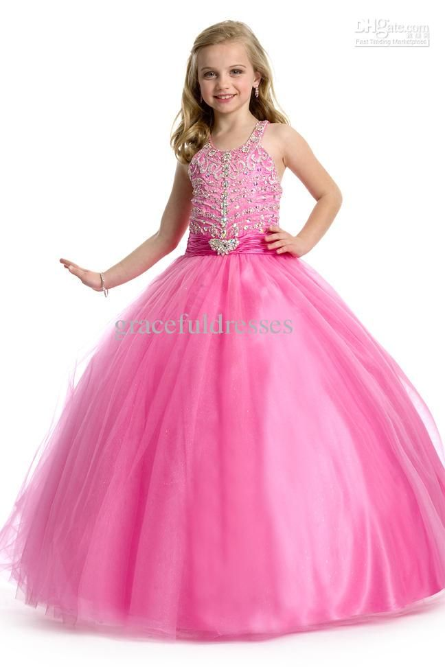 Wholesale New 2013 Hot a-line beaded straps pageant dresses kids ...