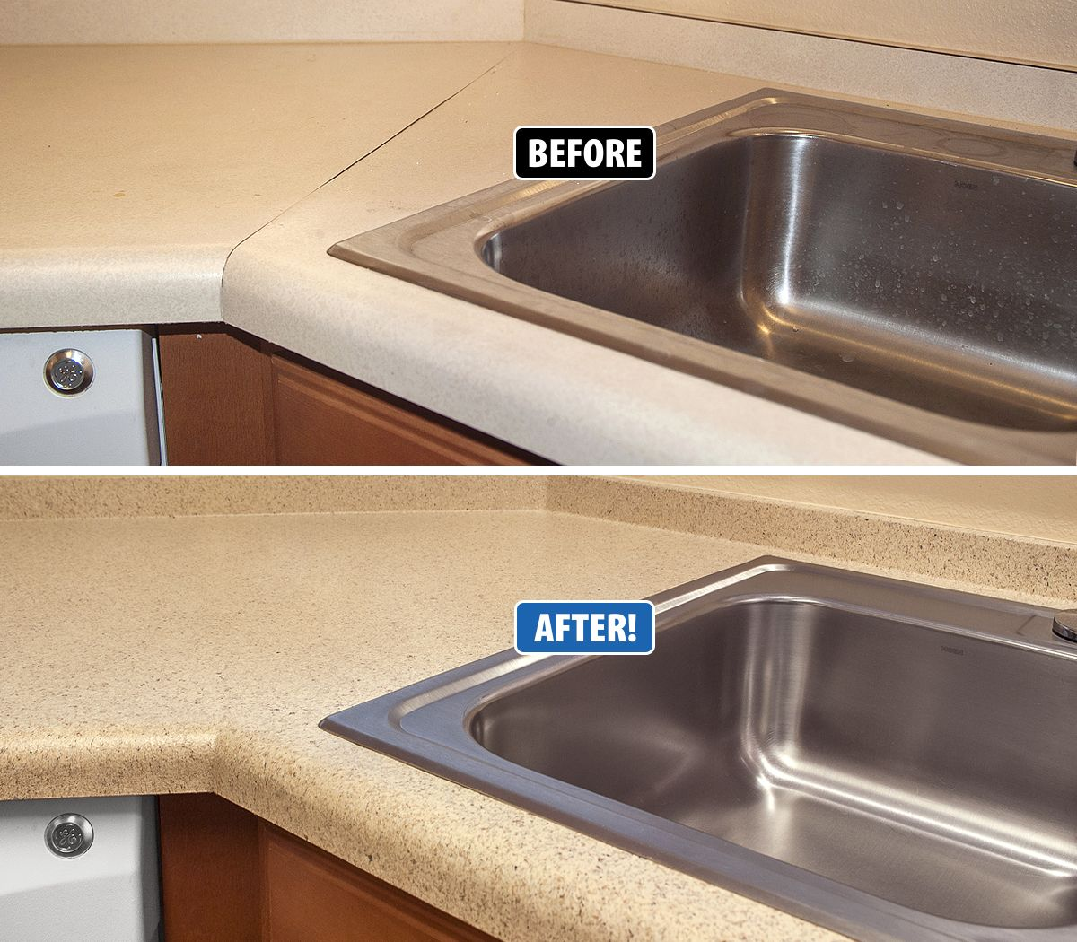 Miracle Method Can Refinish Countertops To Look Brand New Without Tearing Them Out And Tossing Them In A Landfill Refinish Countertops Countertops Home Repairs