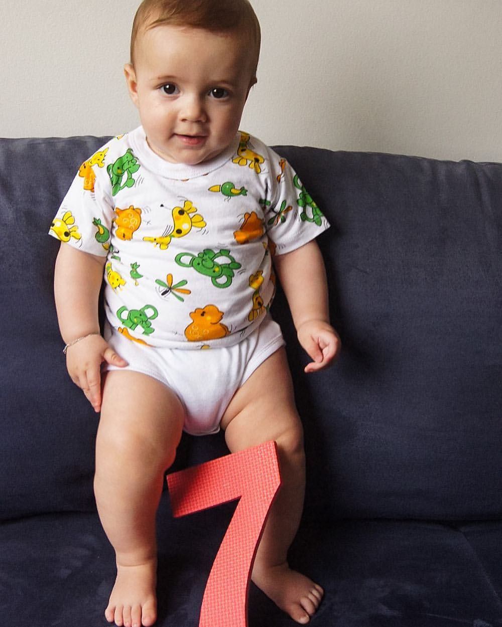 E Hoje Nosso Bebe Completa 7 Meses Babyboy Lookdujour
