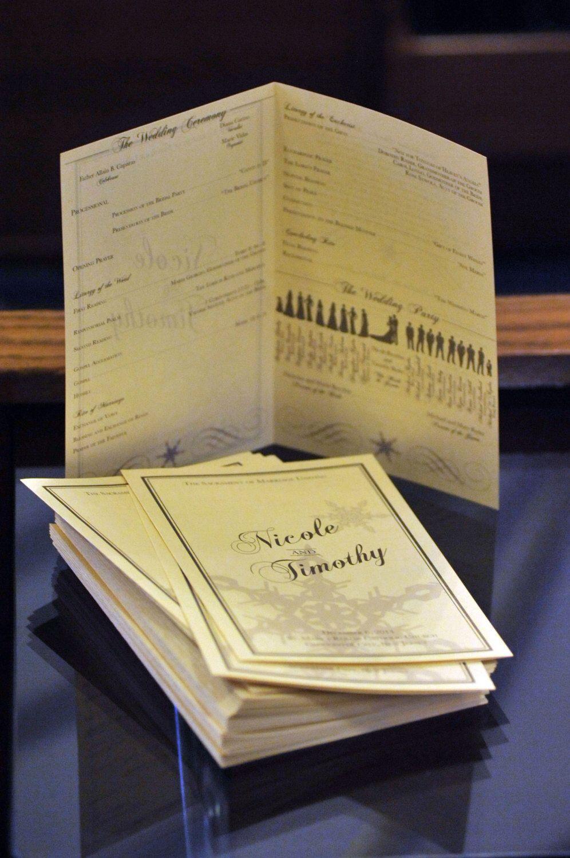Customized Wedding Program Digital File for Catholic Mass
