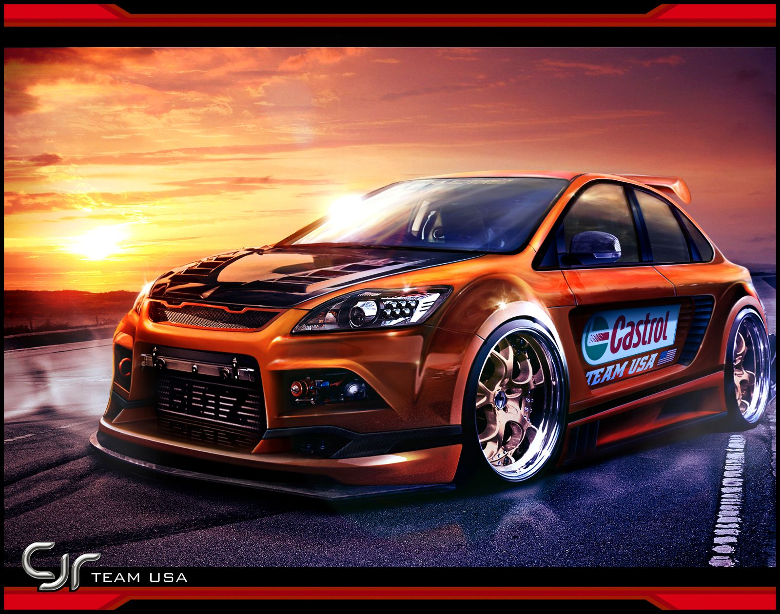 amazing free cars hd wallpapers: ford focus st hd walpapers